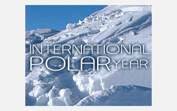 International Polar Year  and photo of snow