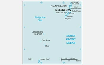 Map of the Palau Islands.