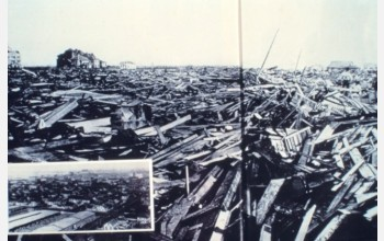 Damage caused by the Galveston hurricane of 1900 is the worst in U.S history.