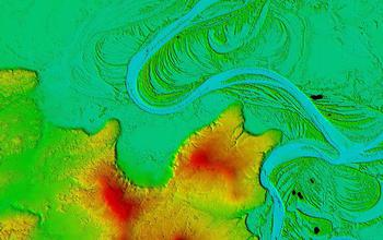 A digital elevation model of the 425-mile-long Koyukuk River.