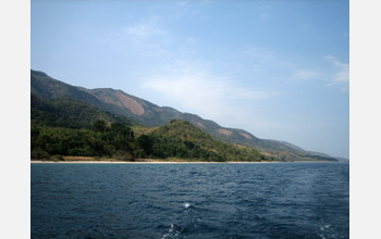The eastern shore of Lake Tanganyika, off Gombe, Tanzania.