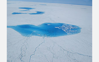 Photo of Greenland surface lake