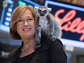 Patricia Wright shouldering a lemur
