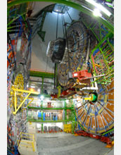 Photo of the detector slice entering the cavern.