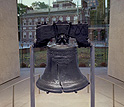 The Liberty Bell in the Liberty Bell Center.