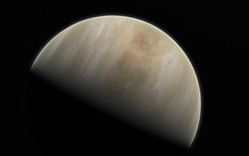 this artistic impression depicts our Solar System neighbour Venus