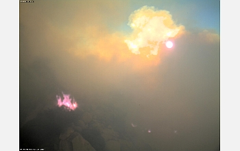 Image captured from the top of Lyons Peak, during the height of the Harris fire.