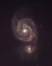 The Spiral Galaxy M51, with supernova.