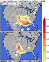 mpas of the United States showing hail predictions