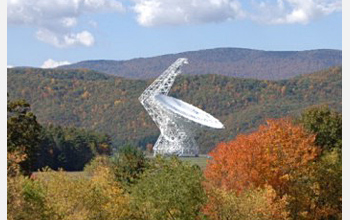 Photo of the  Robert C. Byrd Green Bank Telescope in Green Bank, Pocahontas County, W. Va.