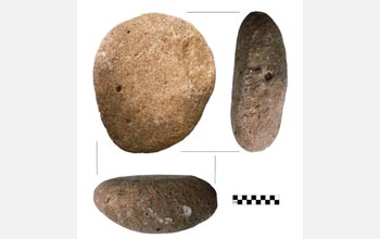 Photo of ancient stone tools used to grind and mill maize and squash.