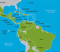 maps showing north and south americas and counries at risk of dengue fever