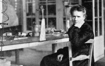 Marie Curie in her lab