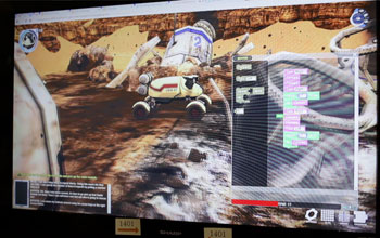 computer screen showing an image from The Mars Rover video game