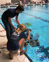 Students retrieve remote underwater vehicles following competition