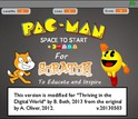 screenshot of a pac-man like application