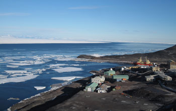 View of McMurdo Station, Antarctica.
