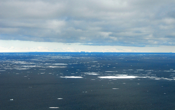 Icebergs in the Southern Ocean.