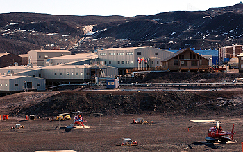 Series of building exteriors of the McMurdo Station.