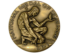 Photo of the front of the national medal of science