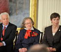 National Medal of Science awardees Stephen Benkovic on left, Esther Conwell and Marye Anne Fox.