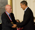 Photo of Caltech's Amnon Yariv, a National Medal of Science awardee for contributions in optics.