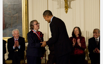 Photo of National Medal of Science awardee Esther Conwell for contributions in electronics.