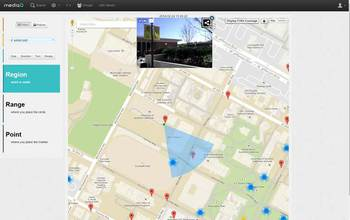 screenshot of USC's spatial crowdsourcing platform, MediaQ,