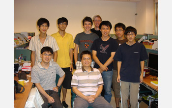 Photo 7 people--Jakub Szefer and Cheng Chen-Mou, and Cheng's research group.