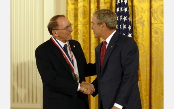 Photo of Thompson and the President