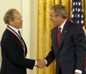 Photo of Wiesel and the President
