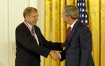 Photo of Caruthers and the President