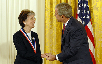 Photo of Colwell and the President