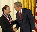 Photo of Langer and the President