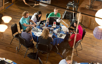 Photo of a team of hackers at Hackanooga 2012, Chattanooga's first-ever hackathon.