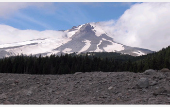 Photo showing Mount Hood, Oregon, looking north from the White River Valley.