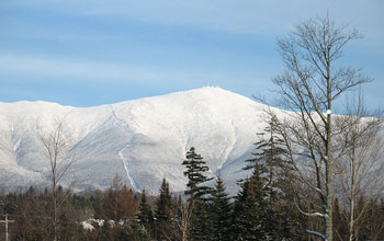 snow-covered Mount Washington, N.H.