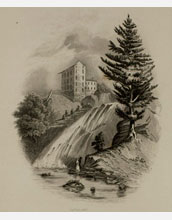 the nineteenth century painting Red Mill Fall (Opposite Albany) by William Tolman Carlton.