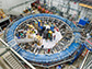 the Muon g-2 ring sits in its detector hall