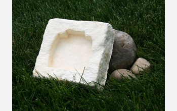 EcoCradle packaging material is composed of agricultural byproducts bound by fungal roots.