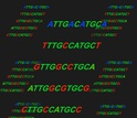 Artistic rendering of DNA-encoded mutations.