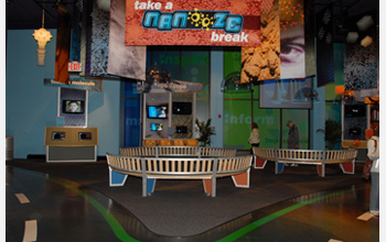 Photo of the Take a Nanooze Break exhibit at the INNOVENTIONS at Epcot in Buena Vista, Fla.
