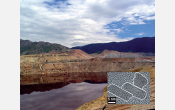 Photo of Montana's Berkeley Pit, contaminated by mineral nanoparticles.