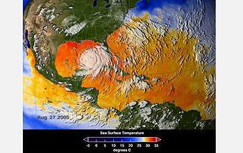 Katrina enters the Gulf of Mexico.