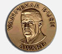 Photo of the commemorative bronze medal awarded to the Vannevar Bush Award recipient