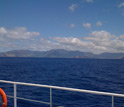 Photo of the island of Oahu, Hawaii, from the deck of the research vessel Kilo Moana.