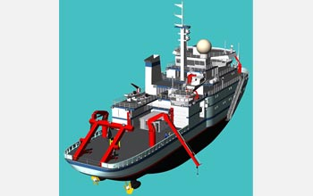 Illustration of NSF's Alaska Region Research Vessel.