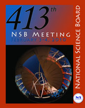 Cover of NSB's Board Book, Feb. 3-4, 2010 meeting with a view of Gemini North telescope, Hawaii.