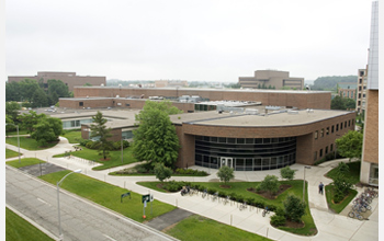 Photo of the National Superconducting Cyclotron Laboratory on Michigan State University's campus.