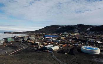 View of NSF's McMurdo Station, Antarctica